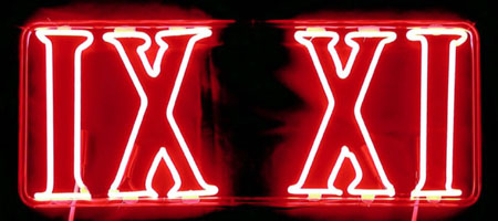IX XI (Nine Eleven) Red Neon
