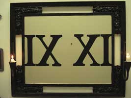 IX XI Mirror with Votive Candles